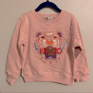NWT KENZO Paris pink embroidered tiger sweater